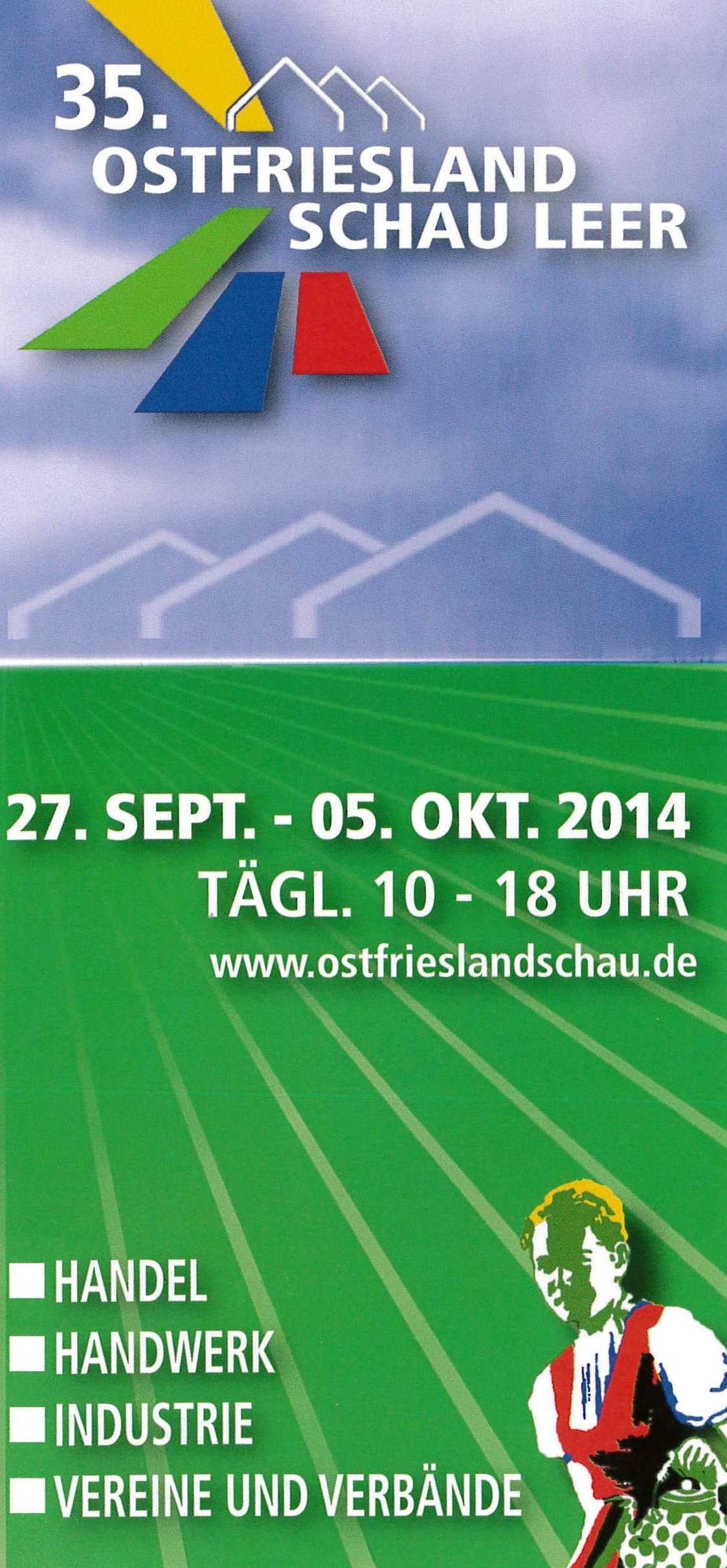 Flyer Ostfrieslandschau 2014